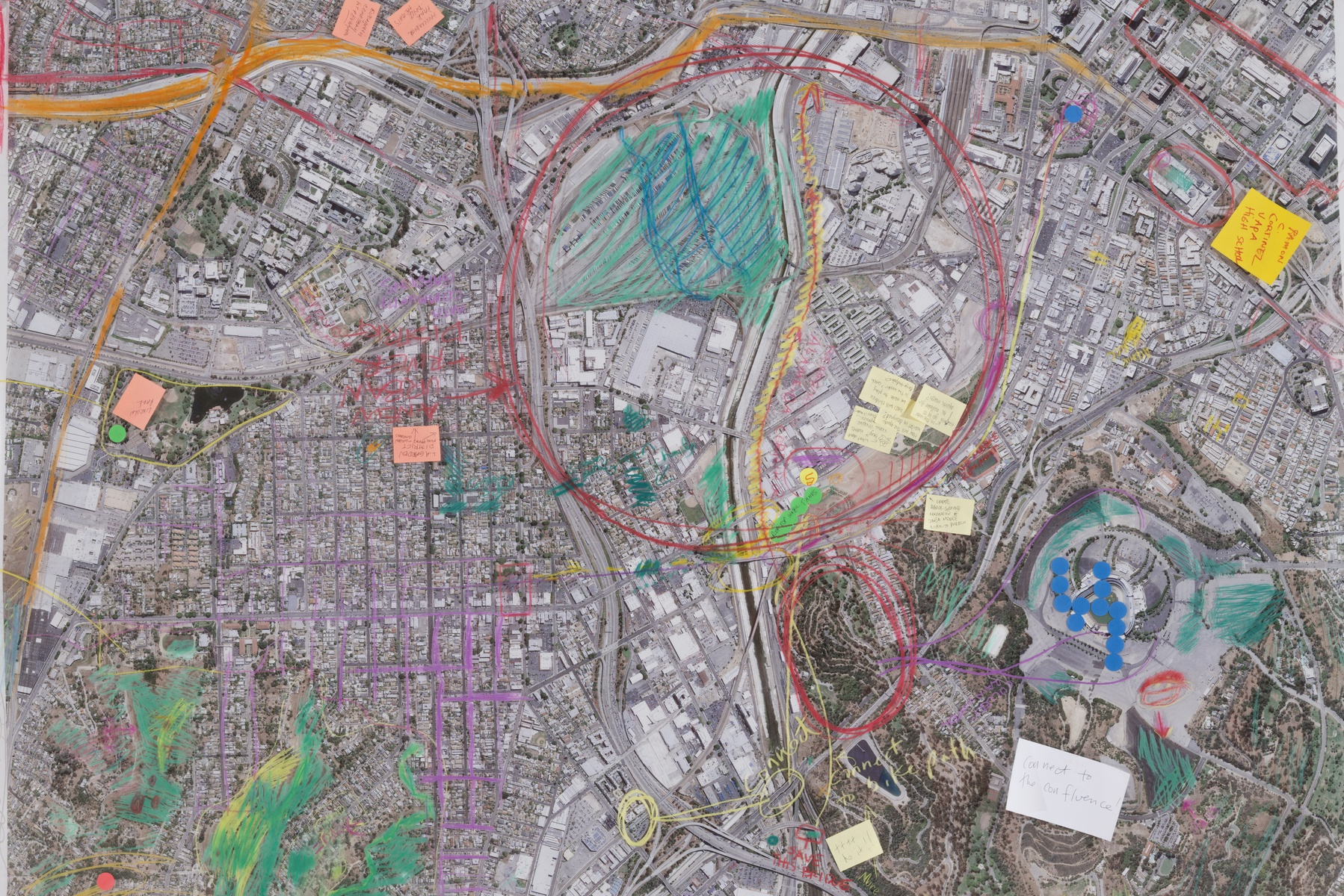 Community mapping exercise mixed media on acetate