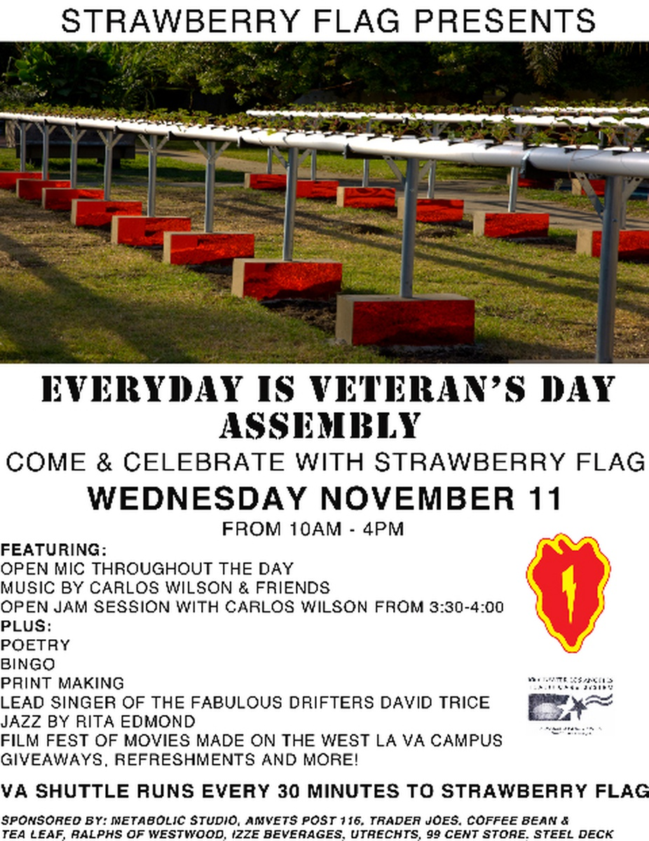 Poster from the First Annual Veterans Day Event at the WLA VA ...